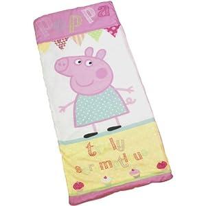 Girls/Kids Peppa Pig Cupcake Sleep Sac Sleepover Indoor Sleeping Bag (26 x 60 inches) (Pink)