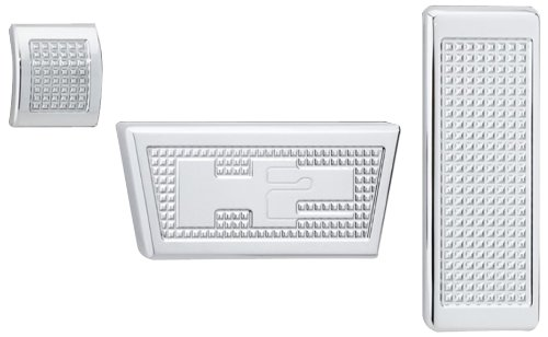 Defenderworx H2ppc05107 Pedal Set For Hummer H2 3 Piece
