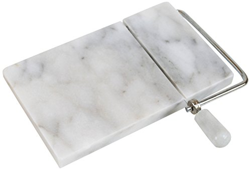 Cook N Home Cheese Slicer, 8 By 5-Inch, White Marble