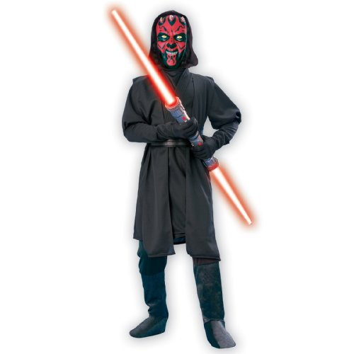 [Deluxe Child Darth Maul Costume - Size Medium] (Child Darth Maul Costumes)
