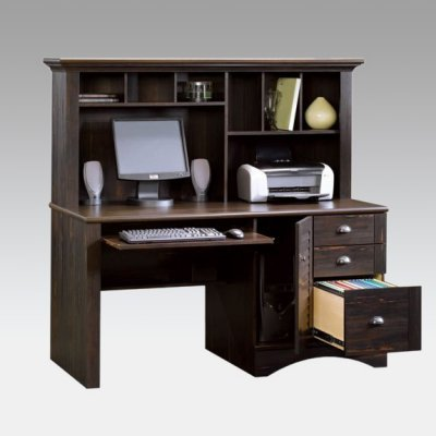 Buy Low Price Comfortable Harbor View Computer Desk and Hutch – Antiqued Paint (B003LLBJ0A)