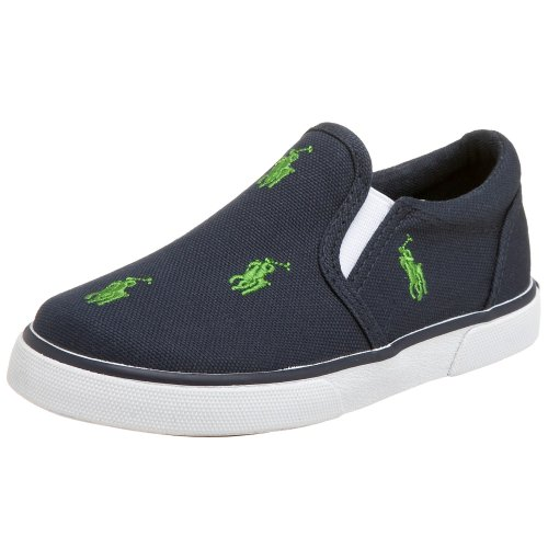 Polo By Ralph Lauren Bal Harbour Repeat Sneaker (Toddler/Little Kid/Big Kid),Navy/Green,6.5 M Us Toddler