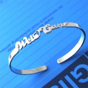 Personalized 925 Silver Name Bracelet Anklet Bangle