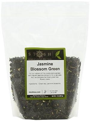 Stash Tea Jasmine Blossom Loose Leaf Tea, 16 Ounce Pouch