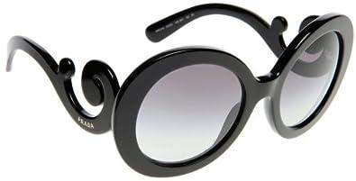Prada 27NS 1AB3M1 Black 27NS Minimal Baroque gd FR Sunglasses Lens Category 2