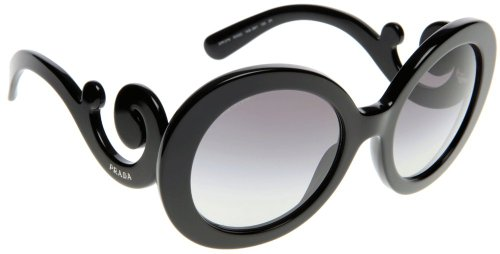 Prada PR27NS Sunglasses - 1AB/3M1 Black (Gray Gradient Lens) - 55mm
