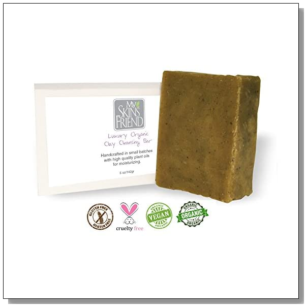 Organic Moisturizing Cleansing Spa- Soap - For Women and Men - MOISTURIZES and EXFOLIATES- 100% Chemical Free - This LUXURY Spa-Soap is recommended for ALL SKIN TYPES - - A Soap that does A LOT MORE than just clean the surface dirt off of your skin - VERY EFFECTIVE for Problem Skin Issues such as Rosacea, Eczema, Acne, and Rashes - You can SHAVE even SHAMPOO with it -- Ranked by Estheticians as the HIGHEST QUALITY SOAP in the WORLD - Non Chemical, Non Irritant, Non Detergent based like other soaps in the market - HYPOALLERGENIC & FRAGRANCE FREE -