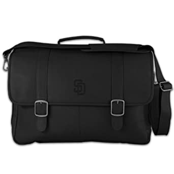 MLB Tan Leather Porthole Laptop Briefcase by Pangea Brands