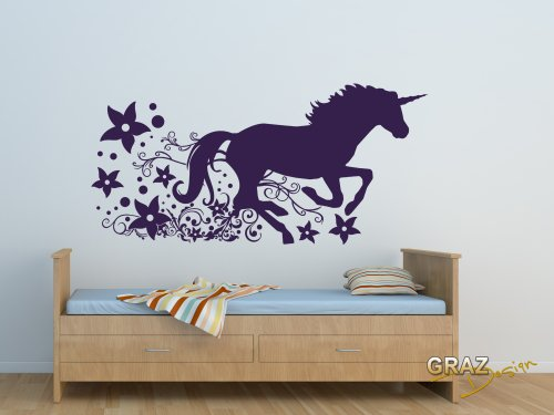 Sticker-mural-Tatouage-mural-autocollant-mural-cheval-licorne