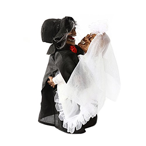 "Halloween Decorations Dancing Skeleton Couple 8.7"" back-515738"