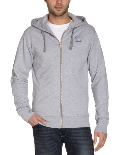 G-Star Men's Cl Avenue Hooded Vest Sw L/S - 85901 Sweatshirt Grey (Grey Htr 906) 50/52