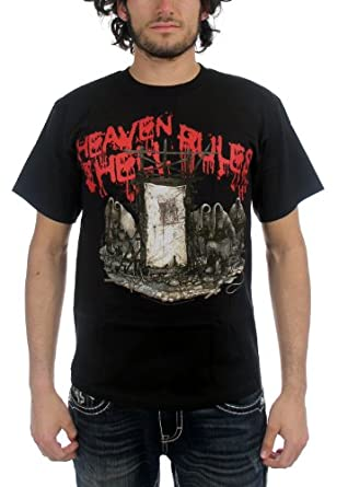 Heaven And Hell - Heaven And Hell Rules Adult T-Shirt, Size: Small, Color: Black