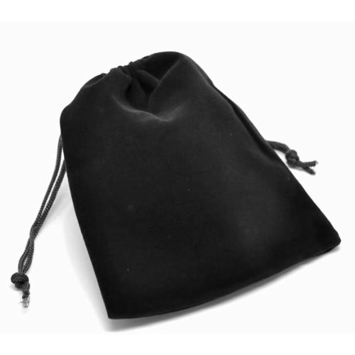 Accessories store / gift pouch velour style DrawString bag L size ☆☆ black x 5 piece set / packaging wrapping