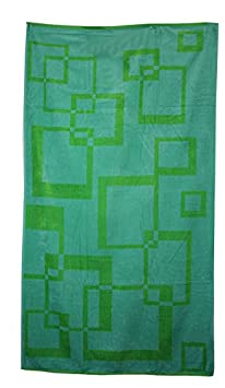 Northpoint Kerala Oversized Double Jacquard Plush Velour Beach Towel, 40 by 70-Inch, Malabar Green Circles