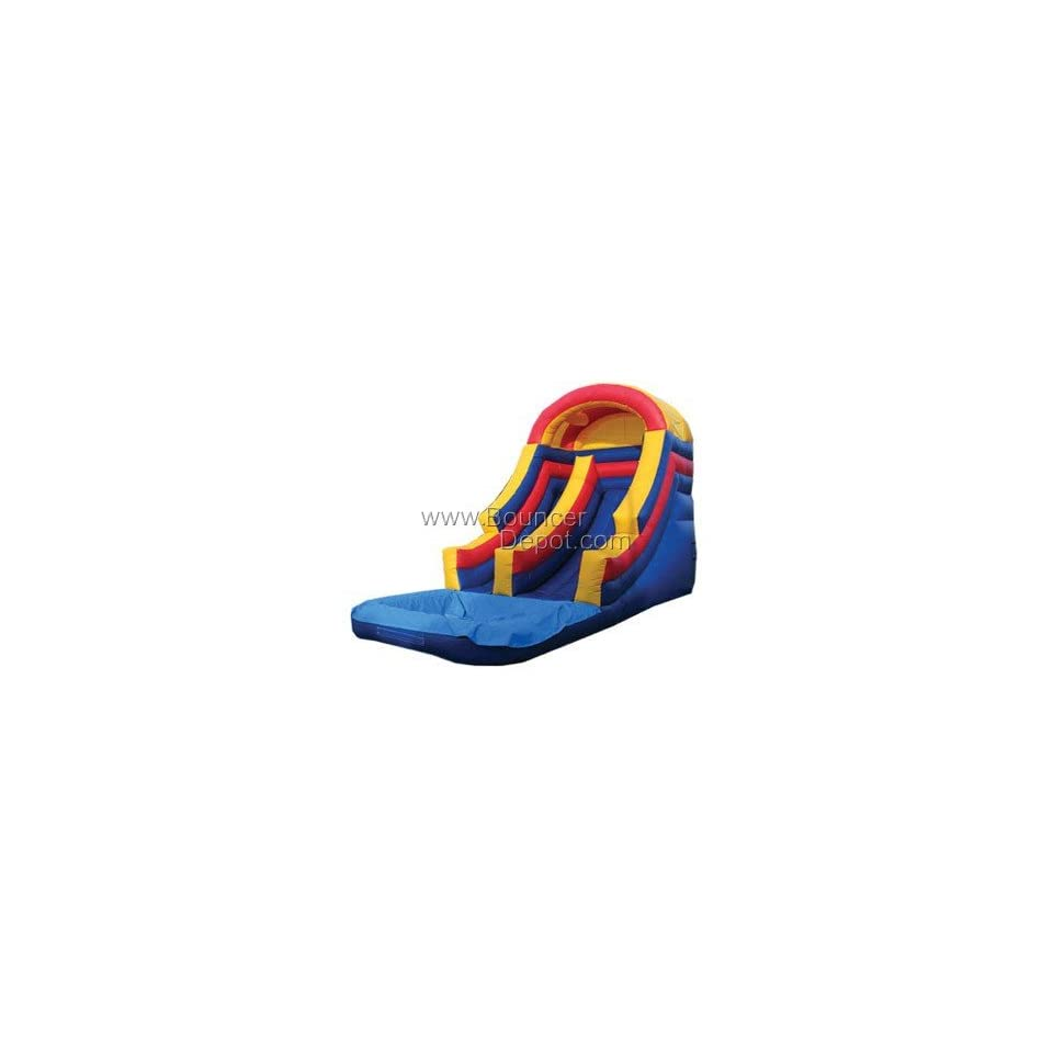 18 FT Rainbow Front Load Commercial Water Slide