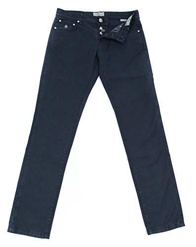 new-luigi-borrelli-navy-blue-solid-pants-super-slim-34-50