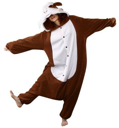 [Bcozy Guinea Pig Onesie, Brown/White, One Size] (Pig Costume Amazon)