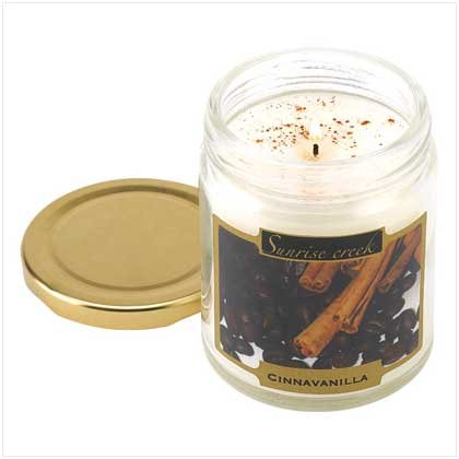 Cinnavanilla Scent Scented Wax Candle Jar Home Decor