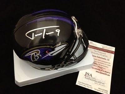 Justin Tucker Autographed Baltimore Ravens Mini Helmet Jsa Coa - Autographed NFL Mini Helmets