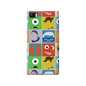 The Fappy Store Disney Pixar Characters plastic Back Cover for Mi 3