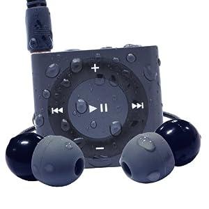Waterfi 100% Waterproof MP3 Player Swim Kit With Dual Layer Technology - Waterproof Headphones Included - No Case Needed - (Slate)