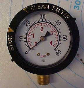 Pentair Clean & Clear Filter Pressure Gauge 53003201 (De Filter Pressure Gauge compare prices)