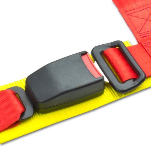 Universal Red Nylon 4-Point Racing Seat Belt Harness & Buckle (Pack Of 1)