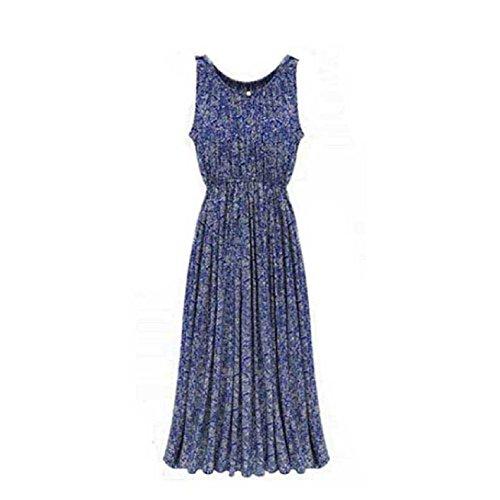 Aokdis Ladies Womens Floral Maxi Dress Summer Evening Party Long Dress (M)