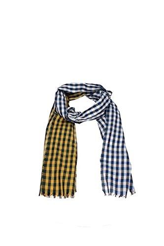 Foulard & Sciarpe Burberry Donna Cotone Giallo, Blu e Bianco 3962643 Giallo 50x180 cmEU