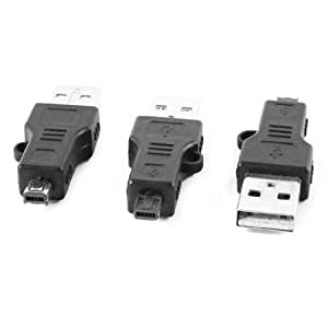 3 Pcs USB 2.0 to Male Mini 4Pin MP3 MP4 Connector Adapter