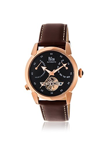 Reign Men's REIRN1806 Canmore Gold-Tone/Brown Leather Watch