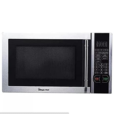 Magic Chef 1.1 Cu. Ft. Digital Microwave, Stainless Steel, Mcm1110st by Magic Chef
