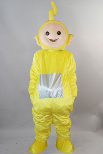 Yellow Teletubbies LAA-LAA Mascot Costume Cartoon Character