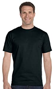 Hanes Men's BEEFY-T Short Sleeve T-shirt TALL 6.1 oz, 4XLT-Black