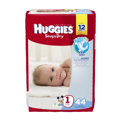 Huggies Snug & Dry Diapers, Size 1, 44 Count