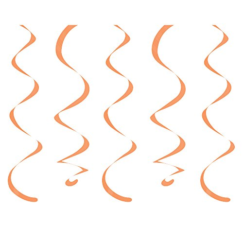 "Creative Converting 10 Count Dizzy Danglers Sunkissed, 18"", Orange"