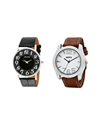 Oura Round Casual Wear Watch For Men Combo OF 2pc
