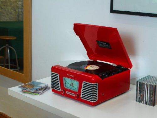 steepletone-roxy-1-rx1-usb-nostalgic-1960s-style-record-player-high-gloss-red-music-system-turntable