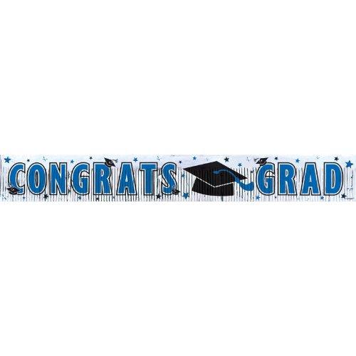 grad met frngd banner 5`blue