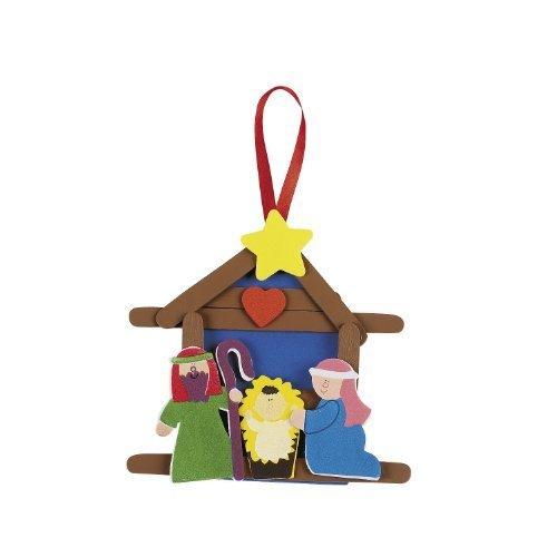 Nativity Craft Stick Ornament Craft Kit (Makes 12) - 1