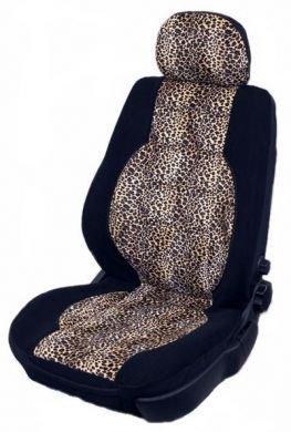 Golden Leopard Animal Print Car Seat Covers