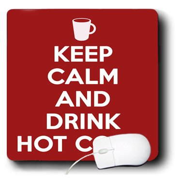 mp_194316_1 EvaDane - Funny Quotes - Keep calm and drink hot cocoa. Red. - Mouse Pads