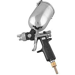Pilot Silver & Black Stainless Steel Spray Gun (15 x 5 x 4 cm)