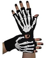 Fingerless Skeleton Bone Gloves