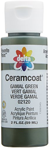 Plaid Delta 2000-2120 Ceramcoat Acrylic Paint, 2-Ounce, Gamal Green/Semi-Opaque - 1