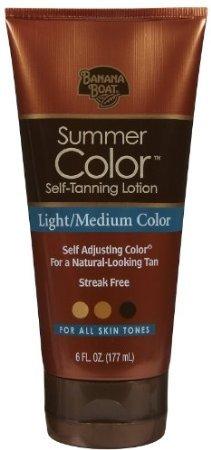 Banana Boat Summer Color Self-Tanning Lotion Light to Medium