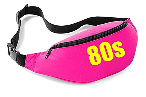 80s Belt Bag (Pink). Also Available in Black. Ideal for 80s Rewind Festivals, Concerts