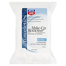 Rite Aid Make-Up Remover, Cleansing Towelettes, Refill, 30 towelettes