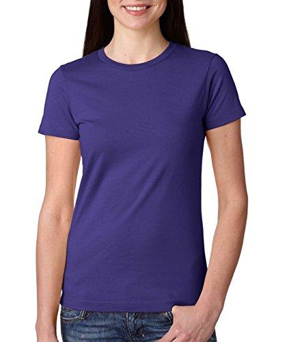 Next Level Ladies' Cotton Boyfriend Tee - Purple Rush 3900 L front-998227