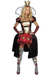 Wicked Wonderland Queen Costume - Medium/Large - Dress Size 6-10